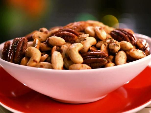 Sweet Spicy And Salty Candied Nut Mix Recipe Food Network Recipes Nut Mix Recipe Spicy Recipes