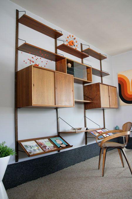 danish modern mid century cado wall unit system eames. Black Bedroom Furniture Sets. Home Design Ideas