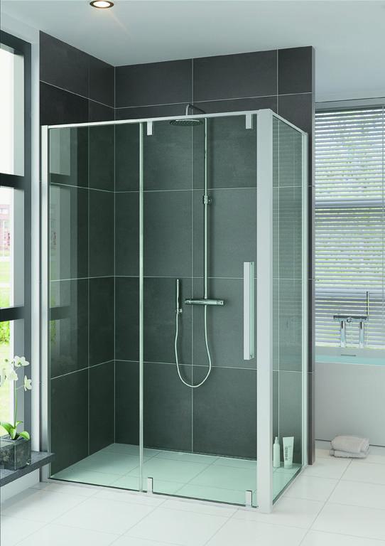 Bruynzeel zeta schuifdeur met zijwand douchewand - Cabine de douche porte coulissante ...