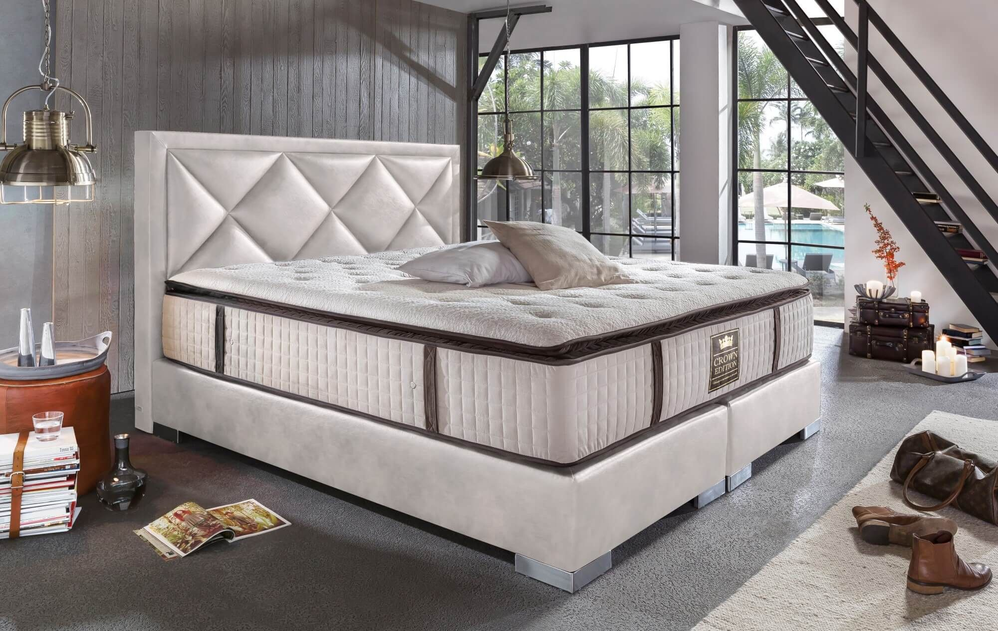 Boxspringbed Plaza Modern Box Spring Bed Contemporary Furniture Stores Luxury Sofa