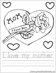 Free Printable Mother\'s Day Worksheets for Kids - Preschool and ...