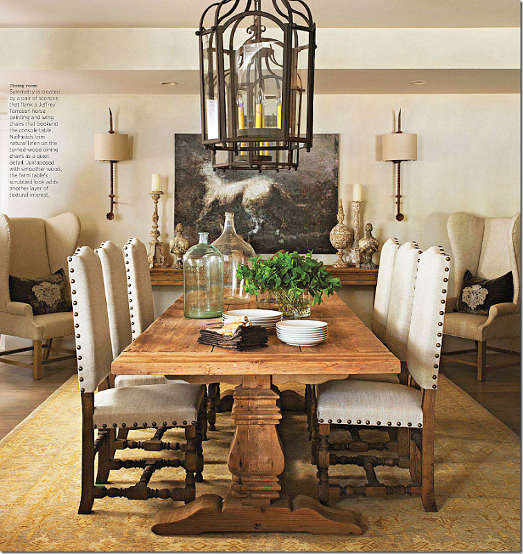 Joseph abboud 39 s home in traditional home totally done for Dining room head chairs