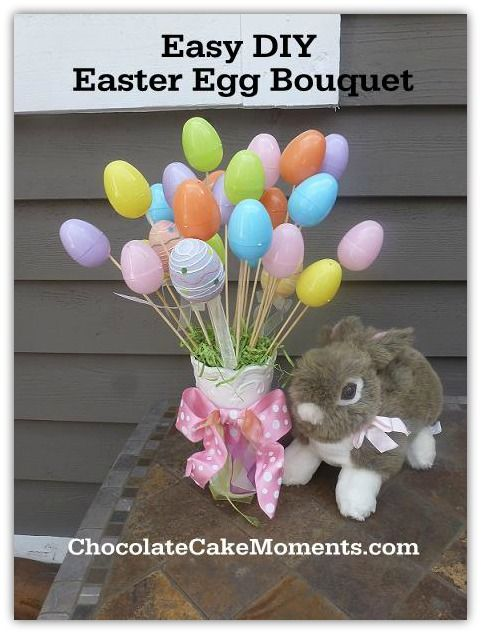 Easy do it yourself easter egg bouquet perfect for the easter easy do it yourself easter egg bouquet perfect for the easter dinner table solutioingenieria Image collections