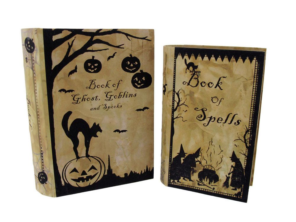 Bethany Lowe Pair of Halloween Nesting Books