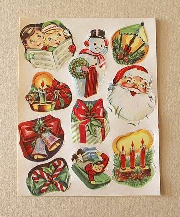 Vintage 1950s Kaycrest Christmas Stickers Mid Century Seals 4 Unused Sheets Vintage Christmas Wrapping Paper Vintage Christmas Gifts Christmas Stickers