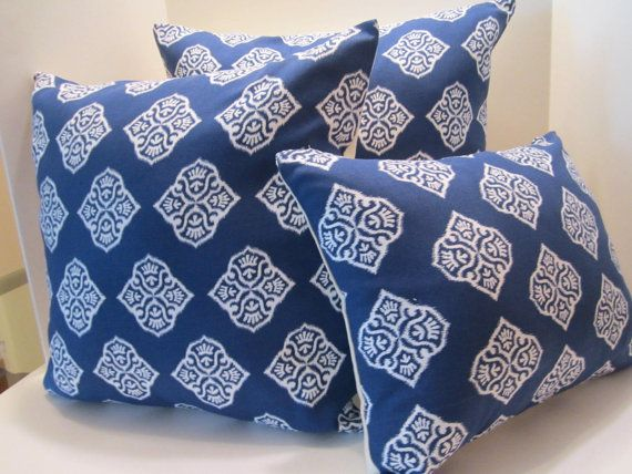 SOLD OUT - Pillow Cover  Pair  16 Inch Gorgeous Ocean Blue and by vertzvkv, $39.00