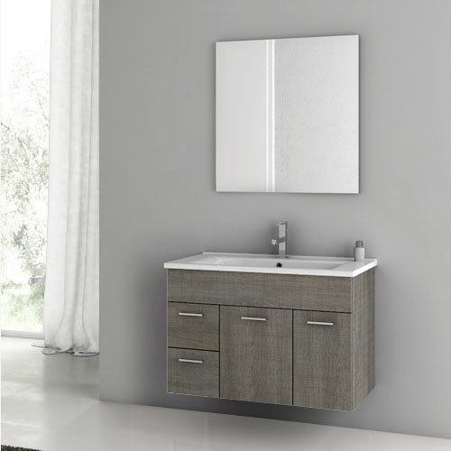 Acf By Nameeks Lor01 Loren 33 Wall Mounted Bathroom Vanity Set