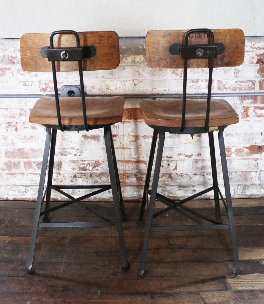 Image Result For Barstool Back Metal Wood Rustic Decor Kitchen