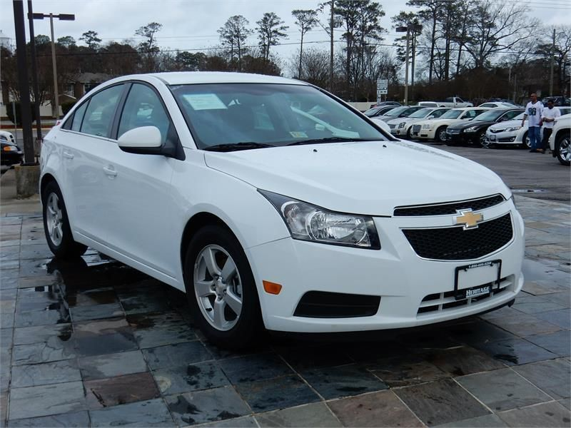 2014 Chevrolet Cruze Lt 43519 Miles White Exterior Color With A