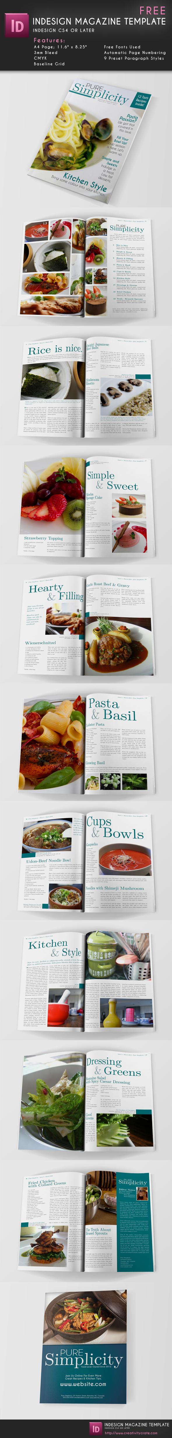 Magazine Template Indesign FREE | Design | Pinterest | Revistas