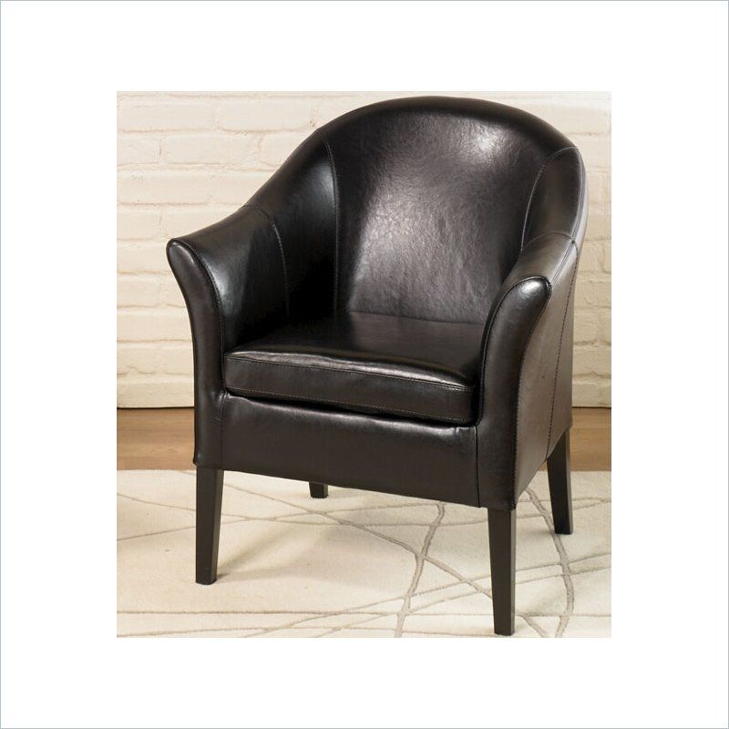 Delicieux Armen Living Black Leather Club Chair