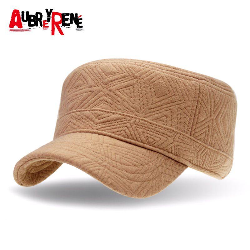 AUBREYRENE  2017 New Winter Flat Hats for Women 100% Cotton Baseball Cap Z f3aa67848e1e