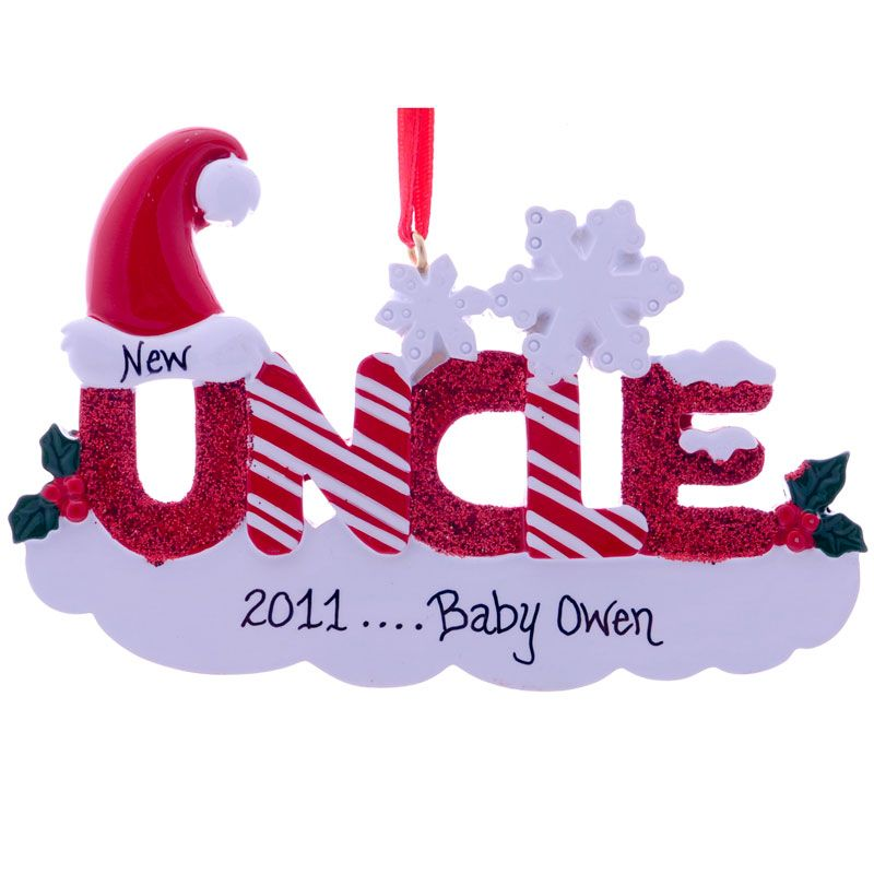Personalized aunt uncle baby gifts new uncle ornament personalized aunt uncle baby gifts new uncle ornament personalized glittered letters gift ornaments negle Choice Image