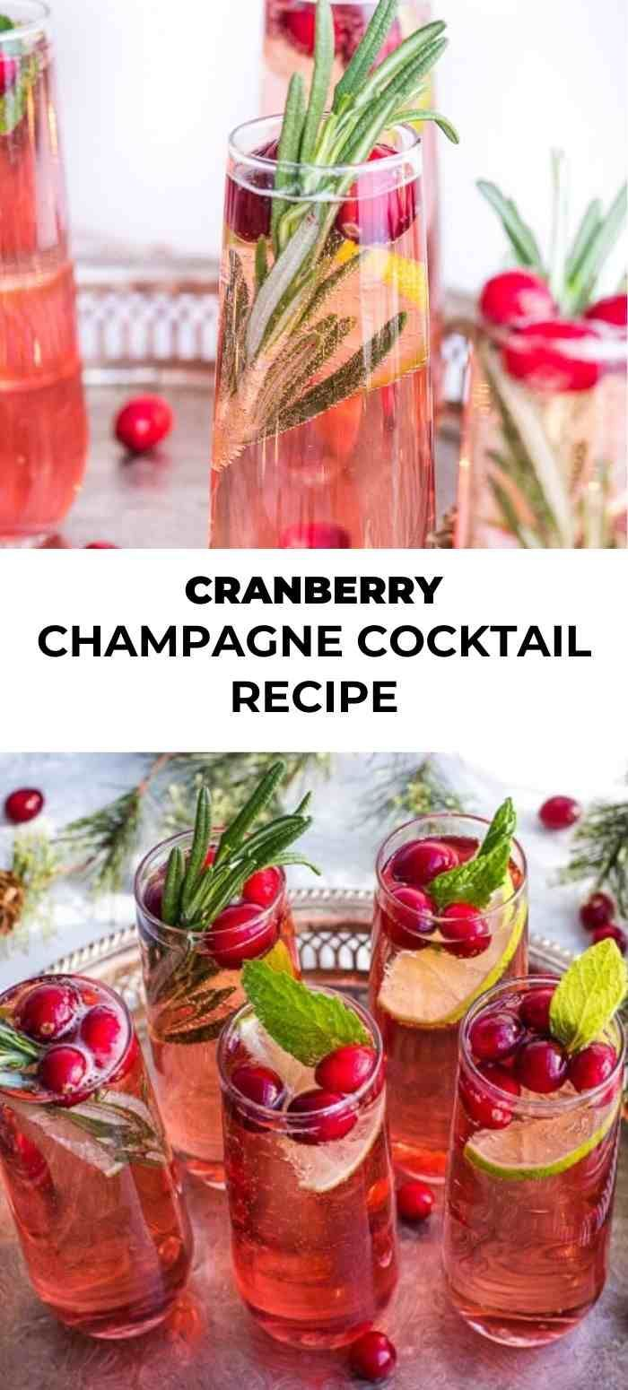 Photo of Cranberry Champagne Cocktail