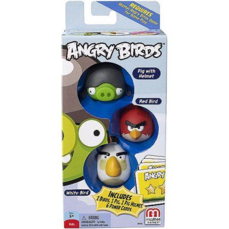 Mattel Angry Birds Mini Figure 3 Pack Pig With Helmet Red Bird