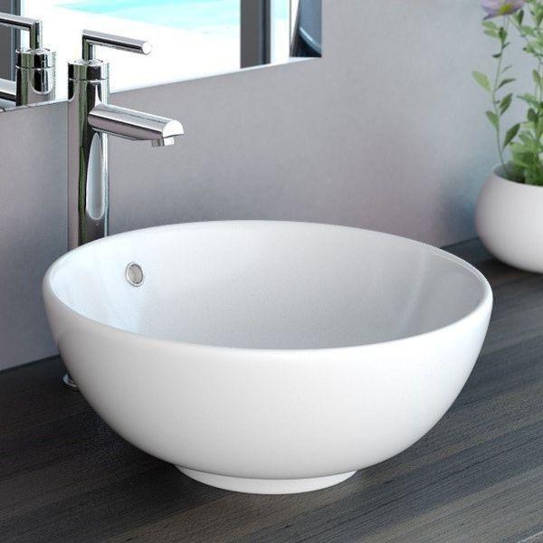 Neg Waschbecken Uno20a Rund Aufsatz Waschschalewaschtisch Weiß