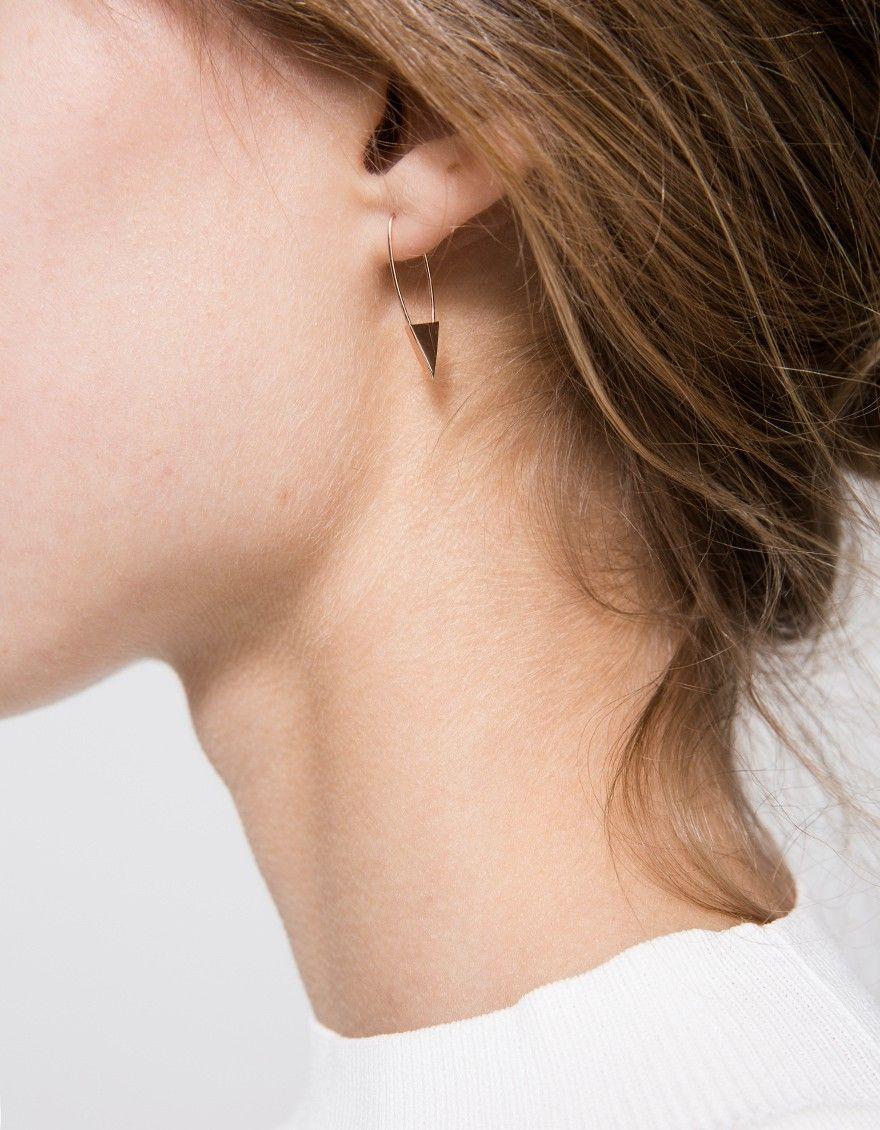 Loren Stewart Diamond & rose-gold single earring J6MXFCJEE8