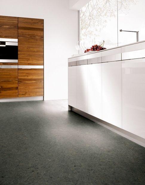 Schon Grauer Boden, Diy Wohnideen, Linoleum Bodenbelag, Linoleum Fußboden,  Fliesen, Küche Esszimmer