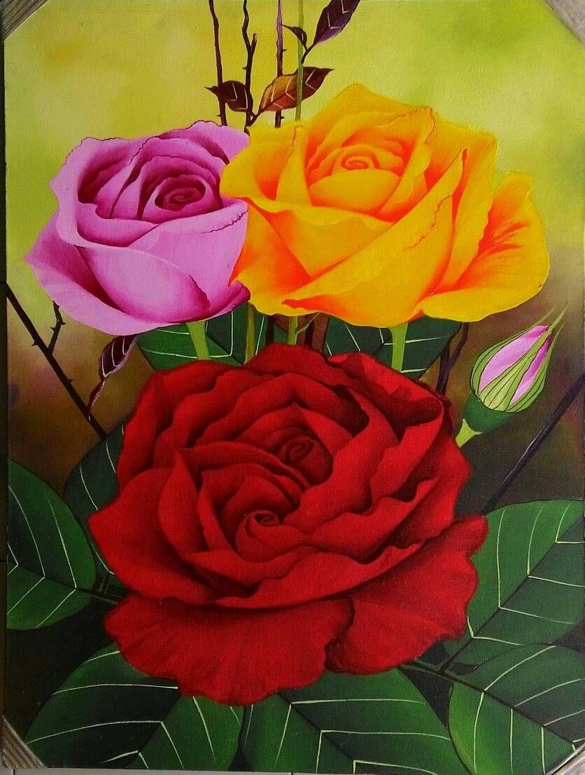 Corak Lukisan Bunga Simple Bunga Lukisan Bunga Sketsa Bunga