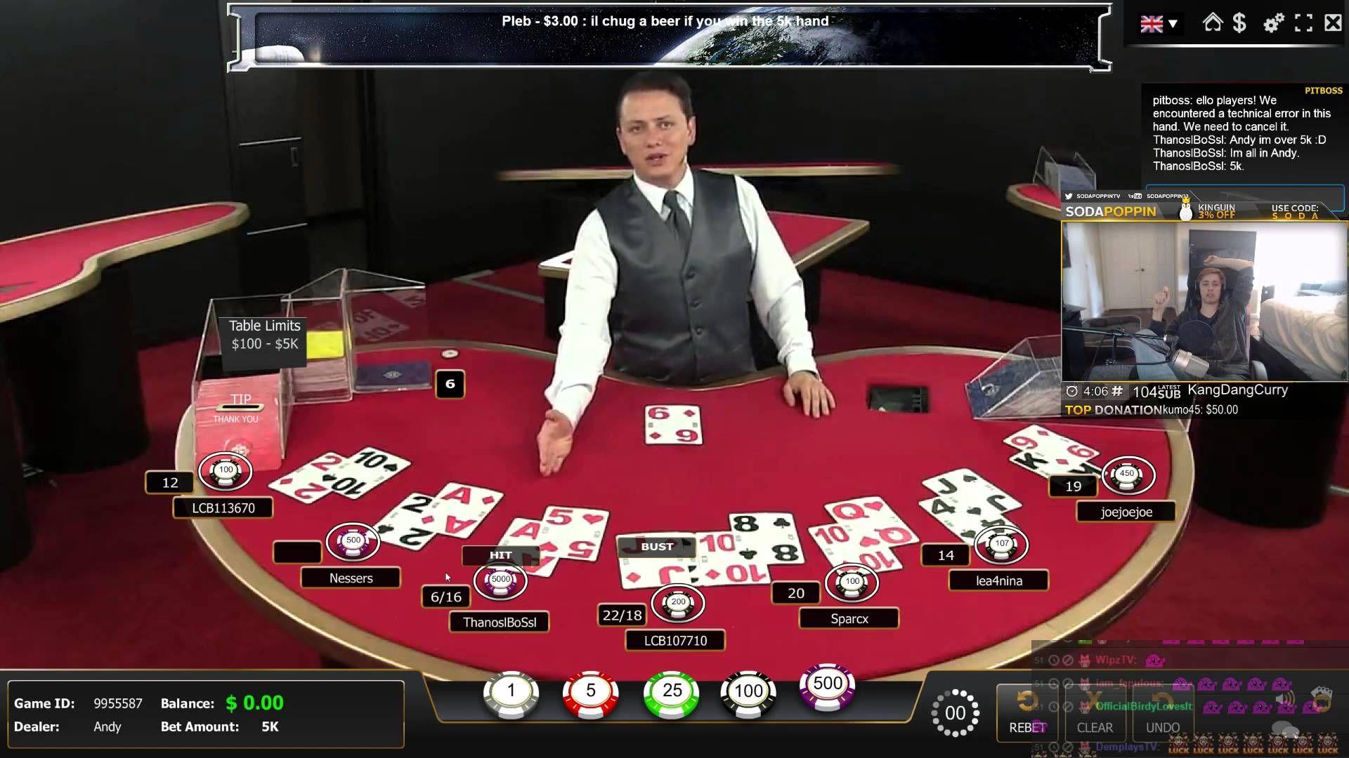 5000 BET (real money) online gambling Did he win or lose