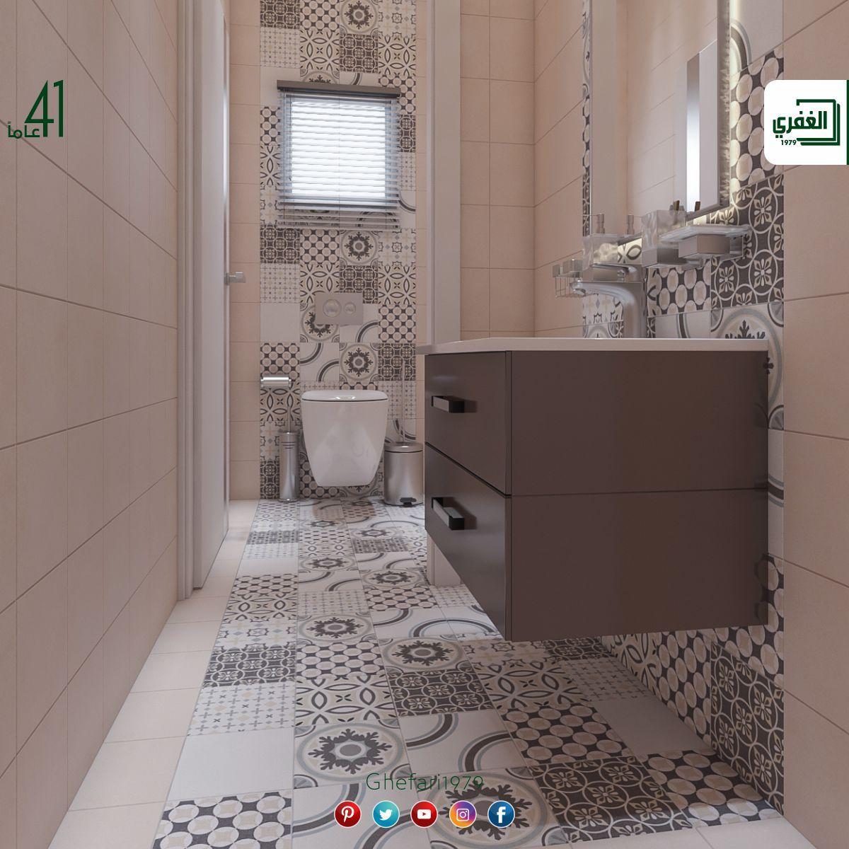 بورسلان أسباني ديكور اندلسي للاستخدام داخل الحمامات المطابخ اماكن اخرى للمزيد زورونا على موقع الشركة Https Www Ghefari Co Vanity Bathroom Vanity Bathroom