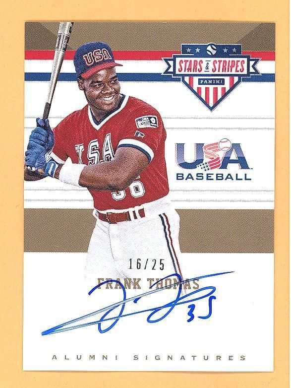 Frank Thomas 2017 Panini Usa Stars Stripes Auto Autograph Card D