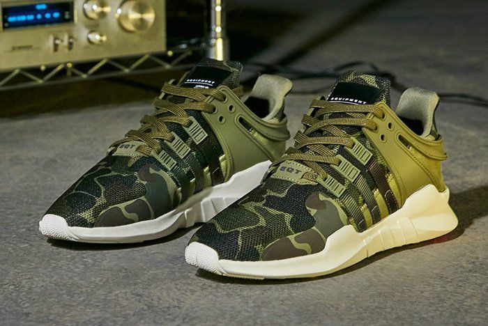 info for 00a33 a3276 The latest colourway for the sharp-nosed adidas EQT Support ADV is equipped  for woodland stealth with an all-camouflage upper.