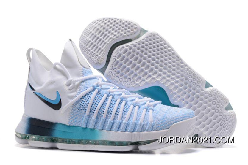 db2d4acbcae87 New Year Deals Nike Kd 9 Elite White Blue Gradient Midsole in 2019 ...
