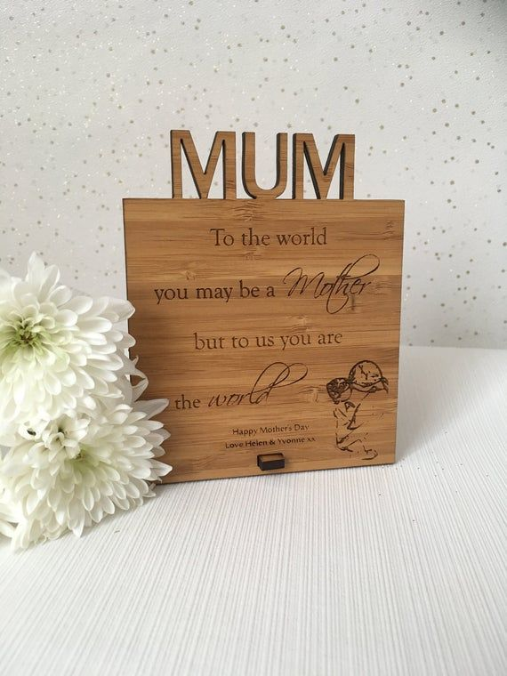 Mother S Day Plaque Personalised Mother S Day Gift Mothers Day