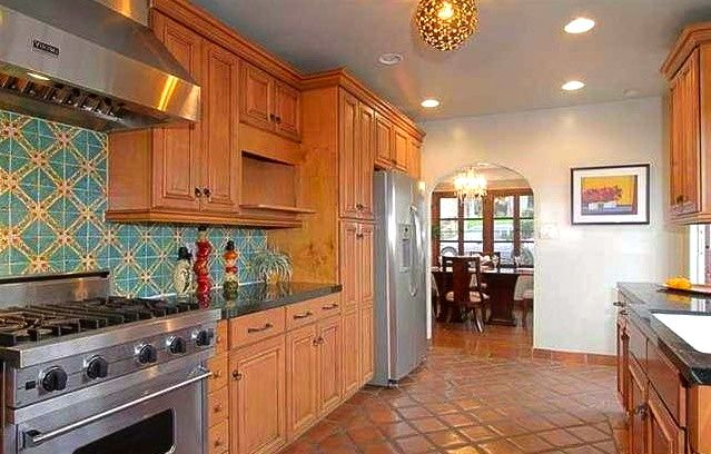 A Kitchen With Vintage Character: Modern Galley Kitchen. 1930 Spanish Style Home In Glendale
