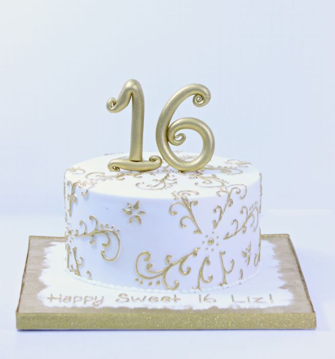Magnificent Sweet 16 Cakes Patisserie Tillemont Montreal 1 Tier Gold Personalised Birthday Cards Veneteletsinfo