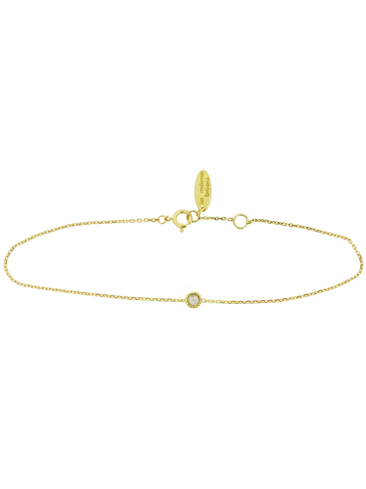 A môme bijou pretty bolly diamond bracelet in k yellow gold