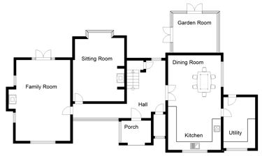 Four Bedroom Uk House Plans Ground Floor