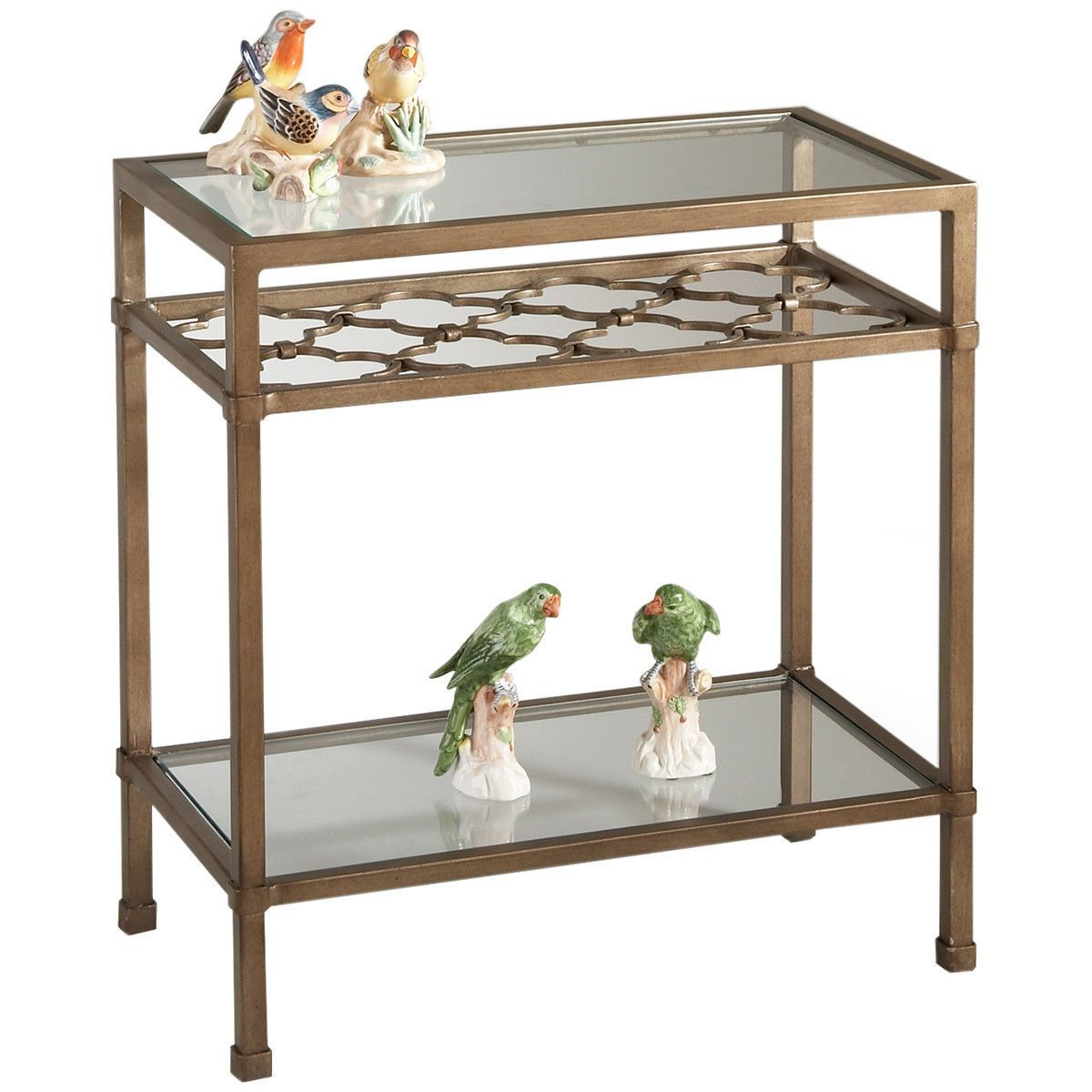 Chelsea House 10 0077 Pac Coast Antique Silver Side Table