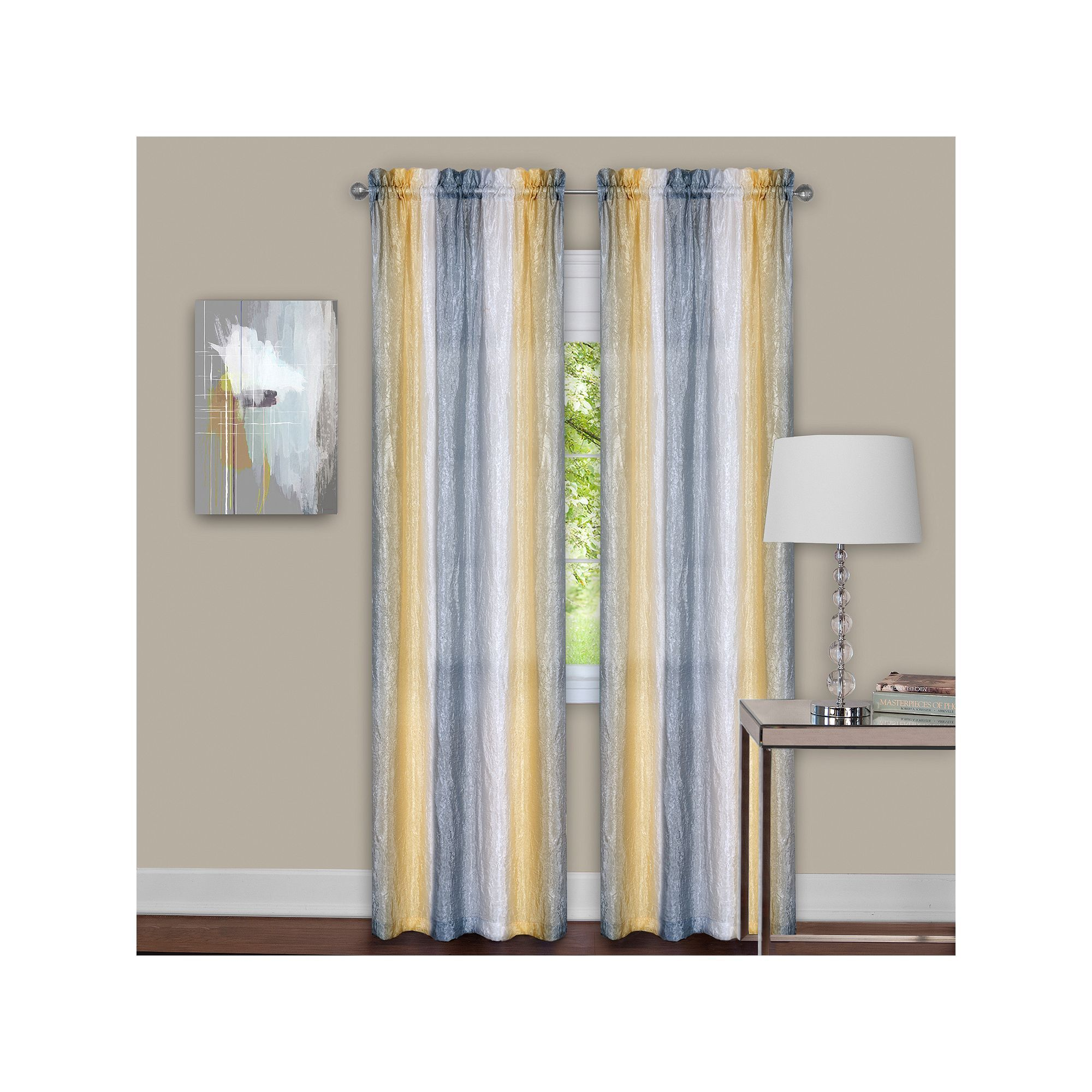 Achim 2 Pack Sombre Window Curtains Panel Curtains Yellow Home