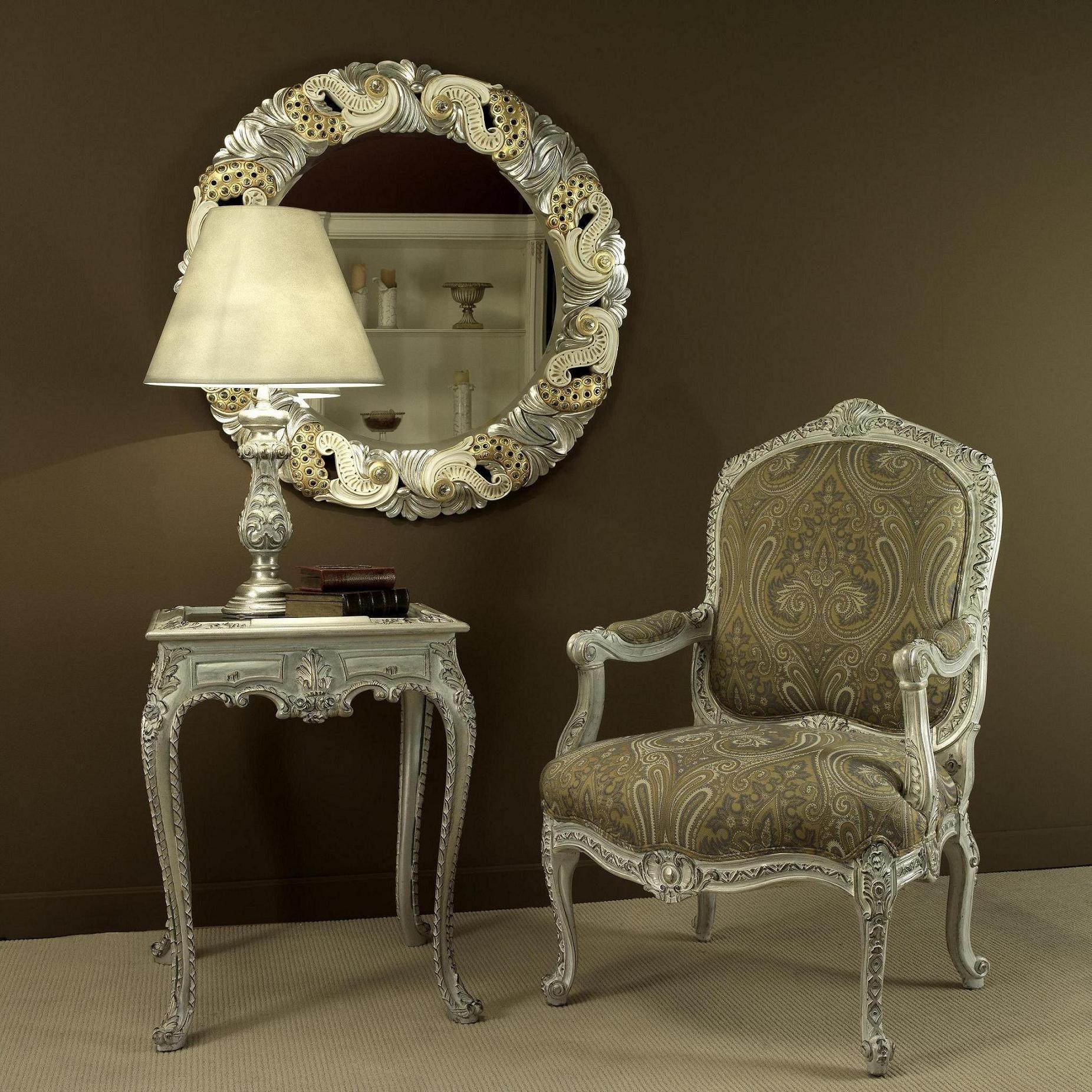 Mesita telefonera sill n y espejo tallados de estilo luis xv mueble luis xv y vintage - Fabricantes muebles lucena ...