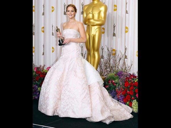 Jennifer Lawrence cuando ganó el Premio Oscar como mejor Actriz en 2013.