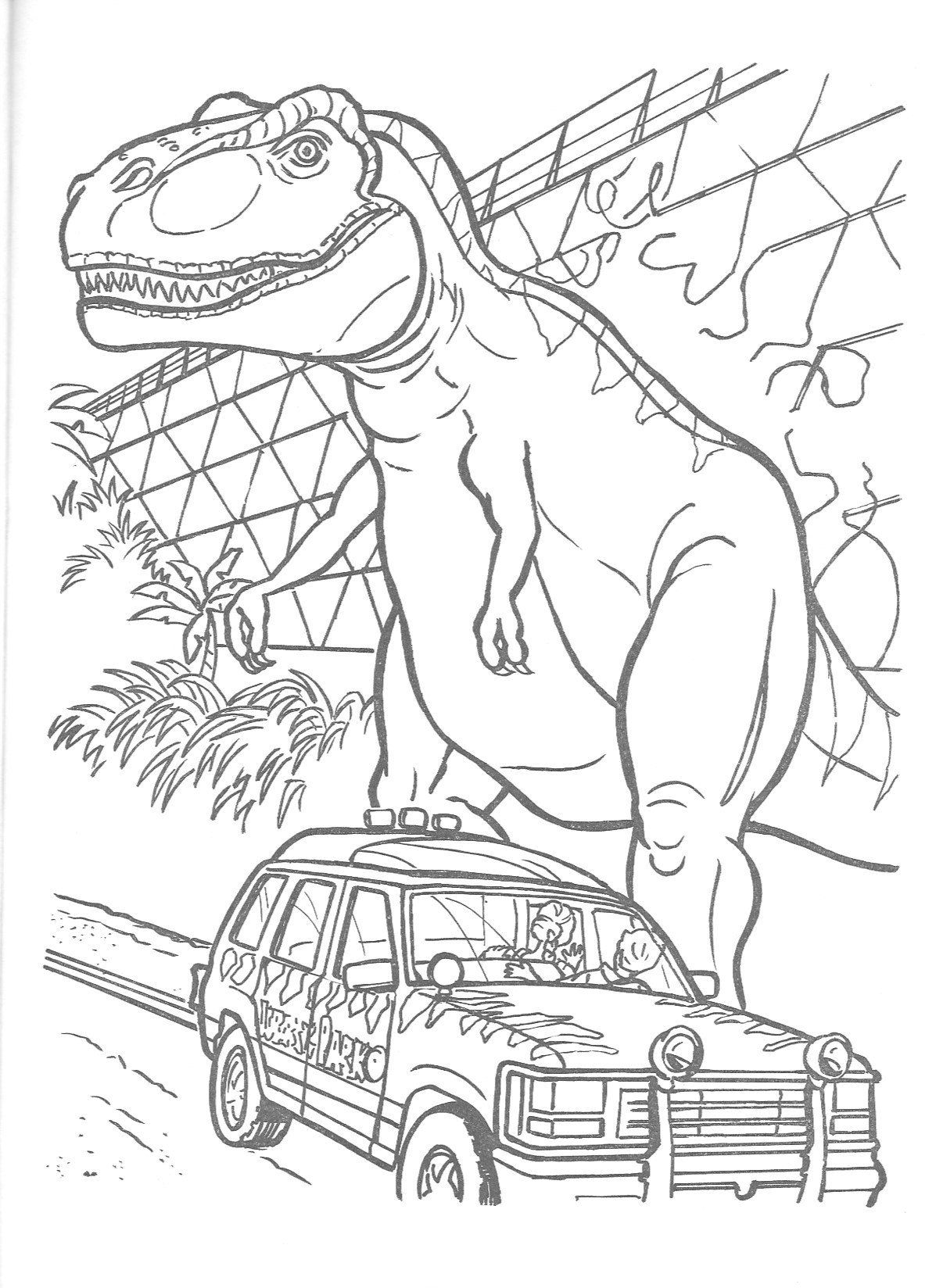 Coloring Pages Jurassic World Concept