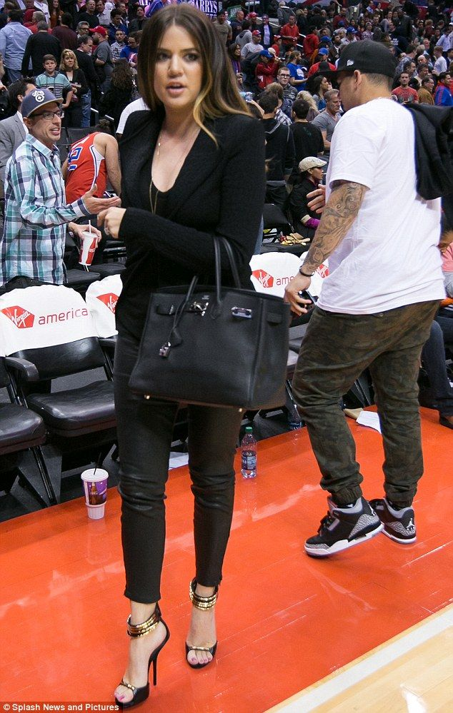 0530f6adc8 Keeping it in the family: Khloe Kardashian cheers on husband Lamar ...