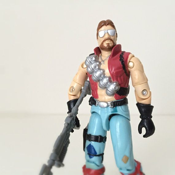 80's GI Joe Action Figure, Buzzsaw The Dreadnok, 1986