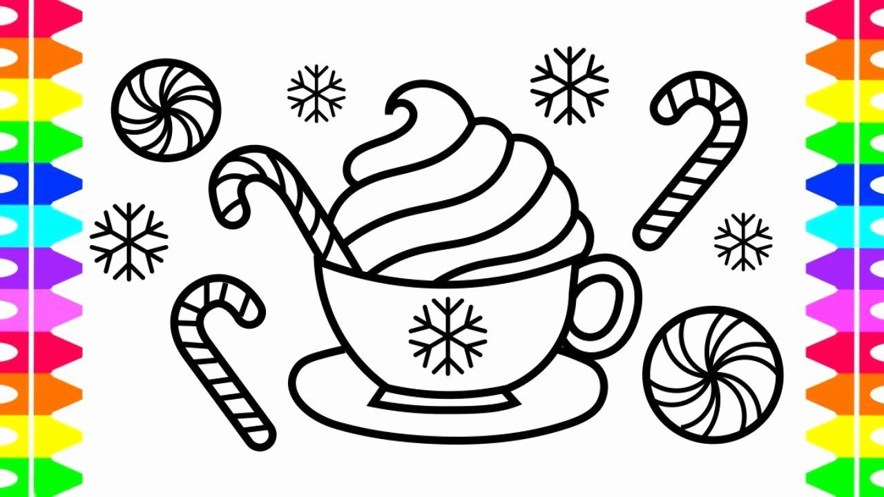 28 Hot Chocolate Coloring Page in 2020 | Coloring pages ...
