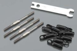 Thunder Tiger PV1387 Enlarged Linkage Rod Set 76mm FBL X50/R30/R50 by Thunder tiger. $9.99