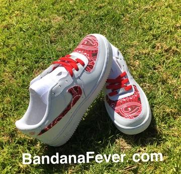 Custom Bandana Nike Air Force 1 Low Shoes with Bandana