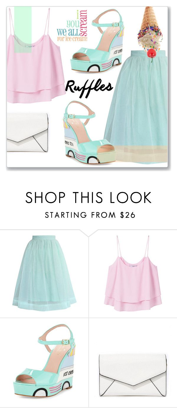 """""""Ice Cream Wedges"""" by cowseatchard ❤ liked on Polyvore featuring Chicwish, MANGO, Kate Spade, LULUS and Tony Moly"""
