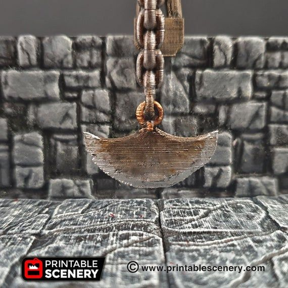 Swinging Blade Trap - 28mm Clorehaven and the Goblin Grotto Wargaming Terrain Scatter D&D DnD Pathfinder Warhammer 40k