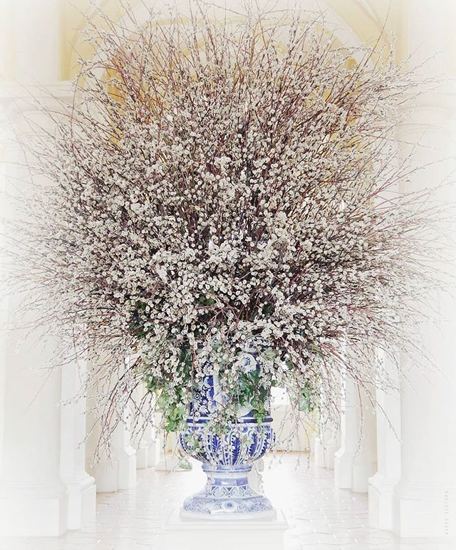 Floral explosion at the Rundale Palace... #interiordesigners #interiordesign #inspiration #flowers #floraldesign #pussywillows #rundalepalace
