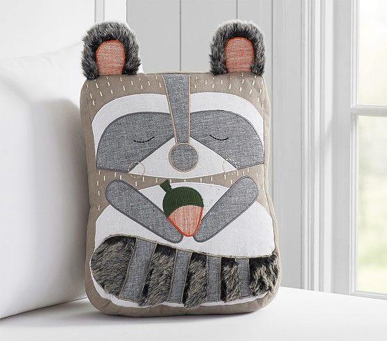 Raccoon Decorative Pillow | Pottery Barn Kids