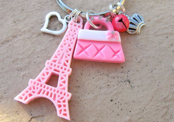 Charm Keychain Purse Charms Backpack Charms Pink by EyeCandiShoppe