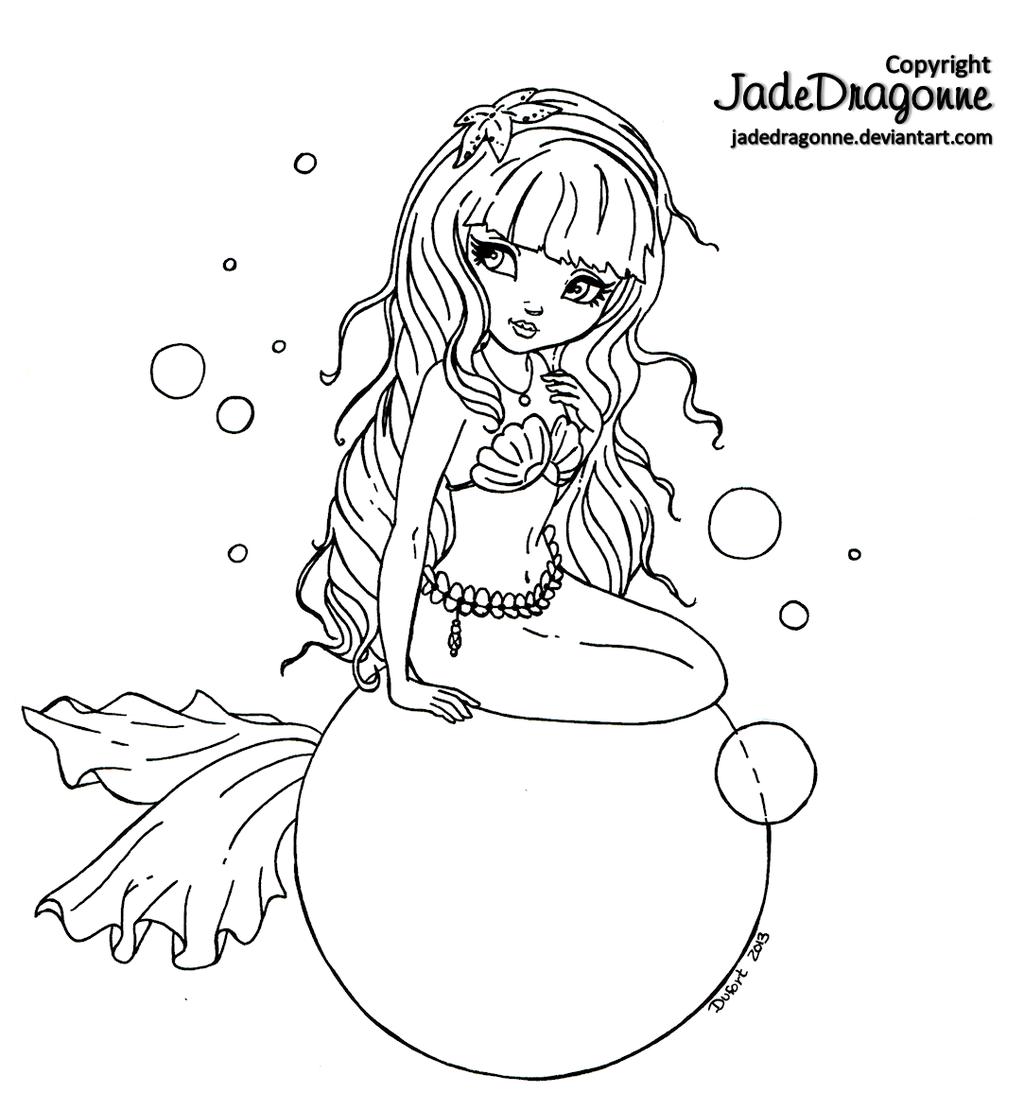 Bubbles by *JadeDragonne on deviantART | Sirenas y peces | Pinterest ...