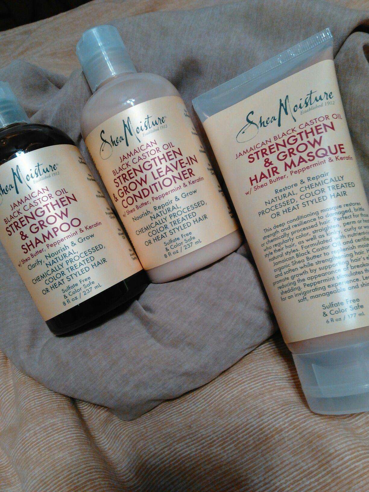 Shea Moisture Jamaican Black Castor Oil Strengthen Grow W Shea Butter Peppermint Ke Shea Moisture Products Natural Hair Styles Natural Hair Growth Tips